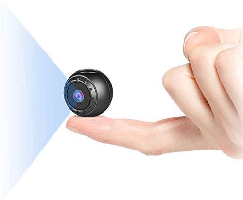 Mini Camara Espia Oculta, MHDYT 1080P HD Mini Camaras Espias Grabadora de Video Portátil con IR Visión Nocturna Detector de Movimiento, Camara Vigilancia Bebe Exterior/Interior para Coche,Baños,Perros