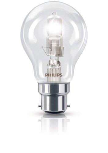 Philips gloeilamp, EcoHalogeen, standaard fitting, B22, 70 W, komt overeen met een gloeilamp: 92 W
