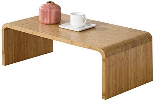 Coffee Table GCX- Pequeñas mesas de madera maciza de bambú creativo multifuncional mesa más pequeña 71 * 36 * 27 cm antideslizante