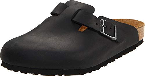 Birkenstock Boston Classic Arch Clog,Black Oiled Leather,43 M EU