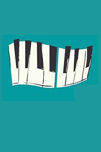Touches de piano: Piano touches clavier pianiste musicien Cahier cadeaux ligné (format A5, 15,24 x 22,86 cm, 120 pages)