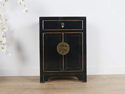 Yajutang Cassettiera cinese in stile orientale/asiatico, colore: nero