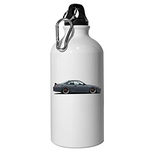 S14 200sx Botella de agua de aluminio reutilizable deporte senderismo blanco 600ml