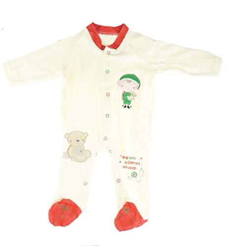 Glamour Girlz Mameluco de invierno para bebés y niñas y niños, todo en uno, color crema, para talleres de elfo de Papá Noel (3-6 meses)