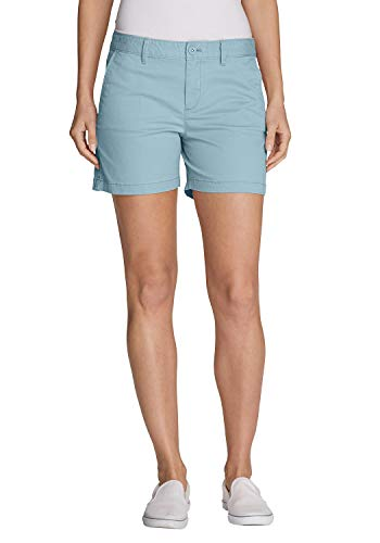 Eddie Bauer Legend Wash Willit Shorts - Slightly Curvy Türkisgrau 40