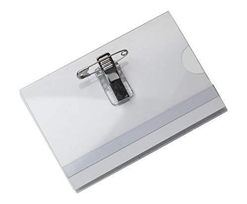 OPUS 2 121261 - Porta nombres con pinza combi 95 x 65mm, 24 unidades