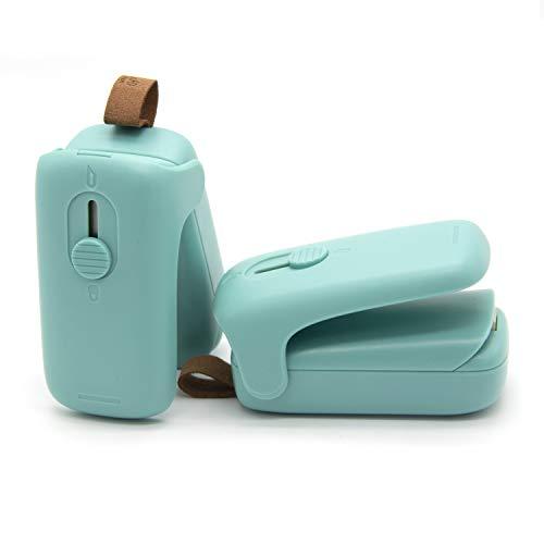 Mini Bag Sealer, Handheld Bag Heat Vacuum Sealer, 2 in 1 Heat Sealer & Cutter Portable Bag Resealer Machine Food Saver for Plastic Bags Storage Snack Cookies Fresh