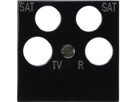Gira centrale plaat 025910 4-voudig Fuba ECG Astro zwart