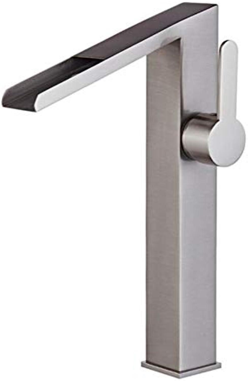 Chrome Wasserhahn Versenkbarer Wasserhahneuropisches Antikes Gebürstetes Badezimmer-Becken-Hahn-Silber