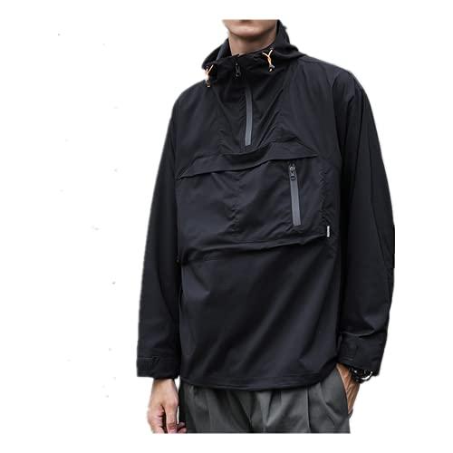 Verano de secado rápido chaqueta hombres delgado jersey con capucha cortavientos entrenamiento