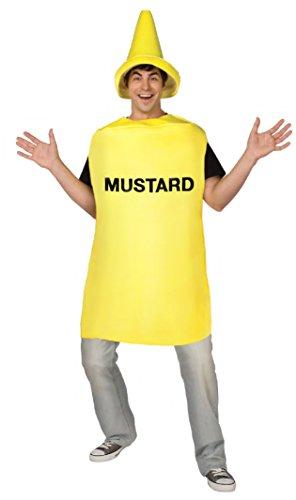 Déguisement pot de moutarde adulte - Taille Unique