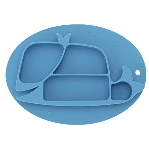 XXDTG Antiderapant Silicone Enfant Enfants Vaisselle, Arts de la Table Skid bébé Portable est Facile à Nettoyer