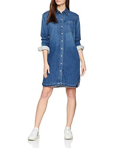Marc O'Polo Damen 901928926011 Kleid, Blau (Blue Summer Denim Wash 021), 36 (Herstellergröße: S)