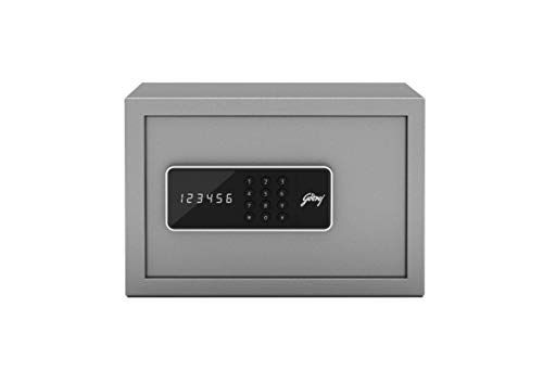 Godrej Security Solutions Forte Pro 10 litres Digital Electronic Safe Locker for Home & Office with Motorized Locking Mechanism (Light Grey)