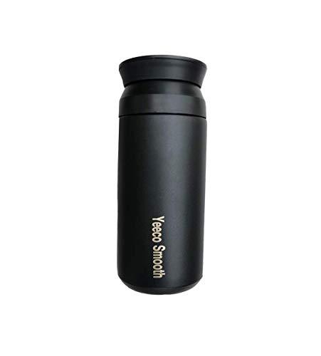 Yeeco Smooth (schwarz) wiederverwendbarer 350ml Coffee to go| BPA Frei| hält 12h heiß und 24h kalt|