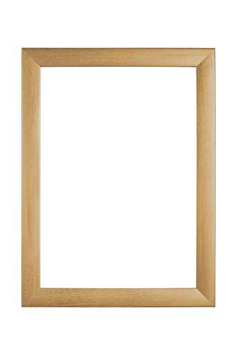 EUROLine35 mm Bilderrahmen für 68 x 123 cm Bilder, Farbe: Gold Gewischt, inkl. entspiegeltem Acrylglas und MDF Rückwand, Rahmen Breite: 35 mm, Außenmaß: 73,8 x 128,8 cm