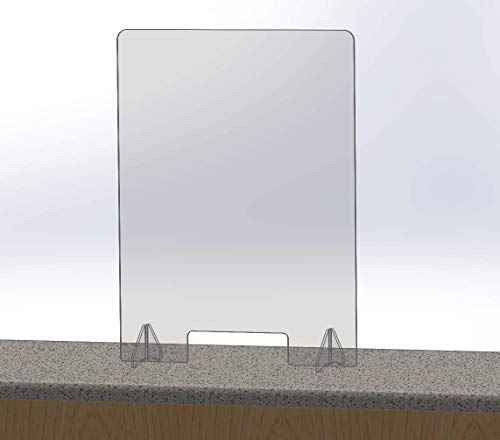 Desktop Plexiglass Sneeze Guard 24' x 32' - Clear Countertop Germ Barrier for Sales Checkouts and Offices (24' wide x 32' tall)