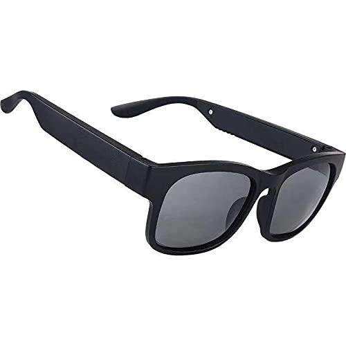 Rawikan Gafas Bluetooth Inteligentes Conducción Ósea Bluetooth Inteligente Deporte Auriculares Gafas de sol Bluetooth Conducción Gafas de Audio Auriculares de Cristal Gris oscuro