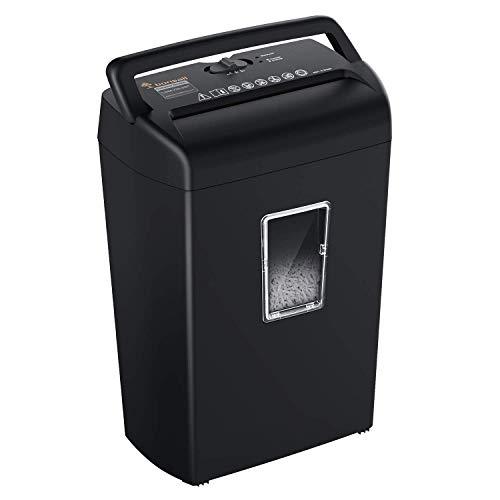 Bonsaii 10-Sheet Cross Cut Paper Shredder,Credit Card Shredder Machine for...