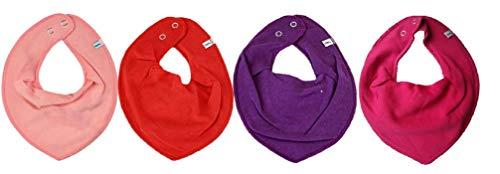 Pippi Lot de 4 bavoirs triangulaires pour bébé - Colorés