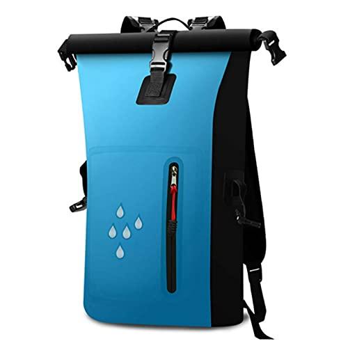 QFFL Leggero Borse Impermeabile, Zaino Galleggiante Compatto con Tasca Frontale con Cerniera, per Kayak, Spiaggia, Rafting, Canottaggio (Color : Blue)