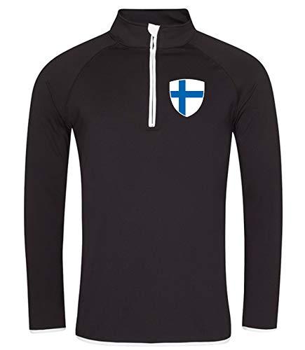 Nation Finnland Sweatshirt Sport Atmungsaktiv UV-Schutz JC SC-W (XXL)