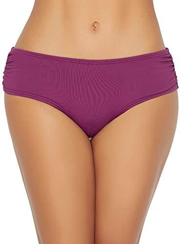 Coco Reef Women's Standard Side Shirred Bikini Bottom Swimsuit, Amethyst 542, Large