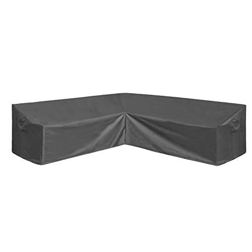 AKEfit Patio Furniture Cover Outdoor V-Shaped Sectional Sofa Cover Premium Waterproof Fabric Garden Couch Protector Grey 100' L x 33.5' D x 31' H