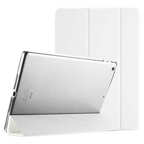 ProCase Funda para iPad 6 2018/iPad 5 2017 9.7' Modelos Viejos A1893 A1954 A1822 A1823, Carcasa Delgada Ligera Posterior Translúcido Cubierta Inteligente para iPad 9.7 Pulgadas 2018/2017 -Blanco
