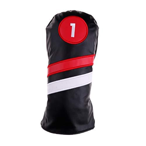 KGMIXL Reutilizable Club de Golf # 1# 3# 5 Haz Cubierto de Madera Conductor/Fairway Rescue Woods/Hybrid PU Cuadrada Cuadrada Cubiertas DE Cuadrada Conjunto Protector Funda Protectora de Golf