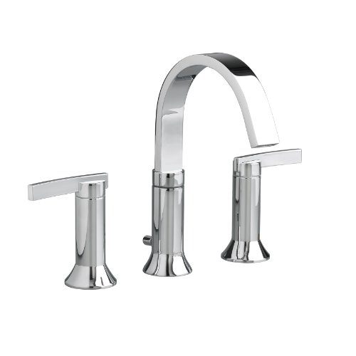 American Standard 7430801.002 Berwick Widespread Lavatory Faucet with Metal Lever Handles and Pop-Up...