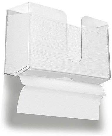HIIMIEI Acrylic Wall Mounted Paper Hand Towel Dispenser Folded Hand Towel...