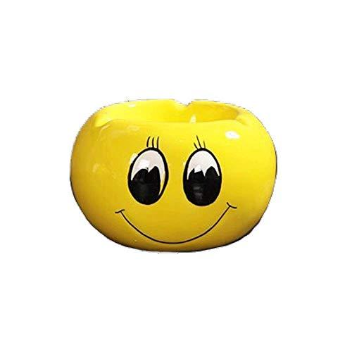 ZXL asbak mini asbak cartoon expressie geschikt voor keramiek/eettafel/kleine ornamenten/asbak/hotel/familie (kleur: D-11x7cm)