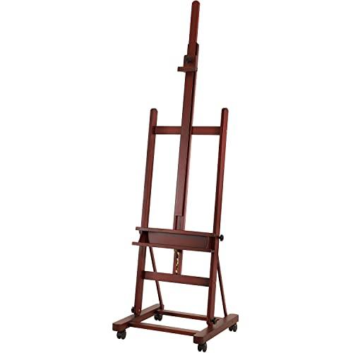 MEEDEN Caballete de madera de haya para estudio, con marco en H, para arte en lienzo de hasta 48 pulgadas de alto