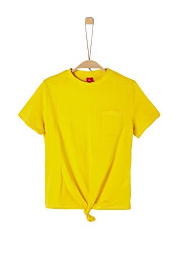 s.Oliver Junior Mädchen 401.10.004.12.130.2037902 T-Shirt, Gelb (1365 Yellow), XL/REG