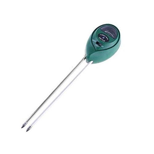 Naisicatar 3-in-1-Bodentester für Feuchte, pH-Wert und Licht, für Garten, Bonsai, Pflanzen, Hygrometer, Feuchtigkeitstester für Pflanzen, Sensor für Bodenfeuchtigkeit (grün) x 1