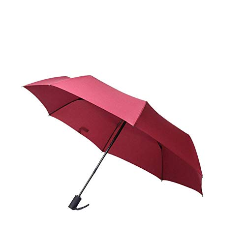 DAQ Paraguas Paraguas de Viaje Compacto a Prueba de Viento, Apertura y Cierre automático Pequeño Paraguas Plegable Adecuado para Bolsa de Golf Mochila, Paraguas
