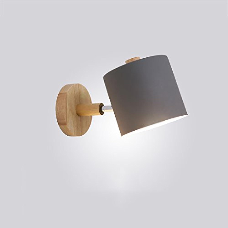 XUEPING Wandlampe Hngende Wandlampe Innenfestes Holz 3 Farben Fassart Drehende Lampe Halle Wohnzimmer Treppe Gang Schlafzimmer Nachttisch Wandlampe (Farbe   A-One loaded)
