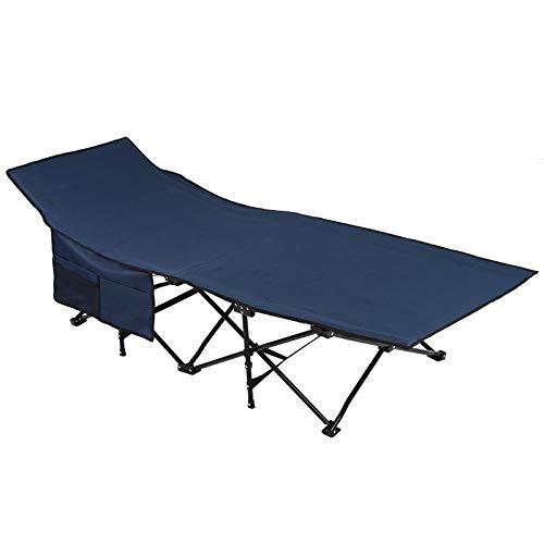 ALPIDEX Brandina da Campeggio Letto da Campo Pieghevole XXL 190 x 67 x 40 cm caricabile Fino a 150 kg incl. Borsa per Il Trasporto, Colore:Blu