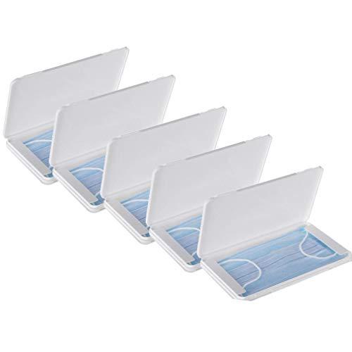 FVE Contenitore per mascherine Antipolvere e Cosmetici,per la prevenzione dell'inquinamento Bianco Non compresi Maschera (5 PCS)
