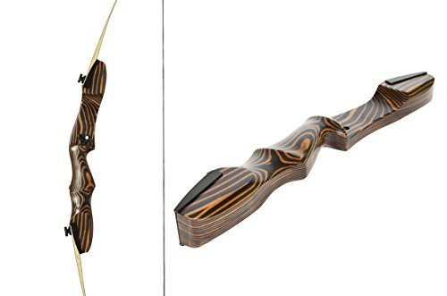 Little Tiger 54' Takedown Recurve Bow | AGES 6+, MAX HEIGHT 5ft 4in | Available in weights 16-29 lbs | LEFT and RIGHT HAND | Premium quality wood recurve | 1 YEAR MANUFACTURE WARRANTY | 24 lb Right