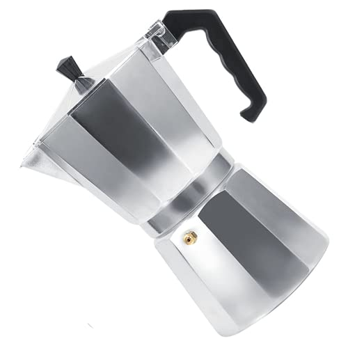 Liyong Moka Pot Maker Stovetop, Coffee Maker 3 6 9 12 Tazas con Tapa para Oficina En Casa para Cafetería(450ML 9 Tazas)
