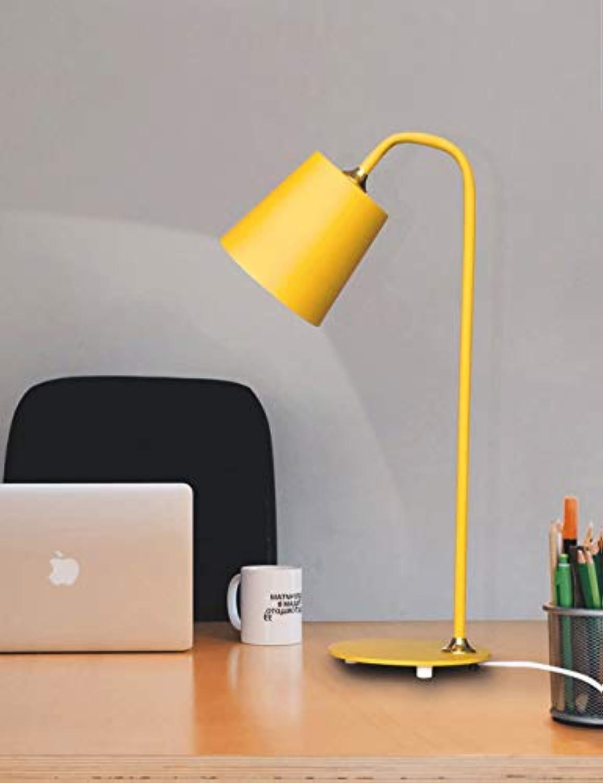 Gelbe Augenschutz-Schreibtischlampe, Schreibtischleselampe, Kinder, die Lampe, Schlafsaallampe, Schlafzimmer-Nachttischlampe studieren
