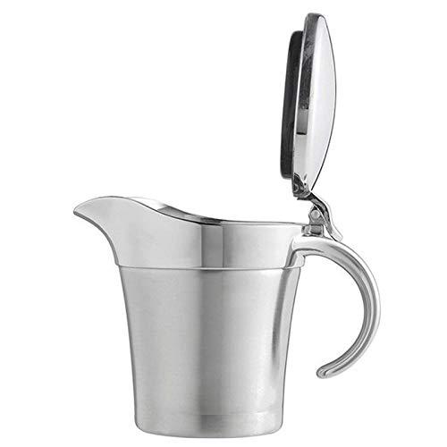YAOLUU Jarritas para Leche/Salsa Jarra Acero Inoxidable Salsa salseras Jar Barco 450 ml con Tapa de Doble Pared de Aislamiento térmico Salsera (Size : 450ml)