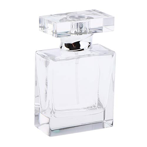 SDENSHI Bouteille De Parfum En Verre Cristal Vide Vide Vintage Art Lady Gift 50ml / 1.7Oz