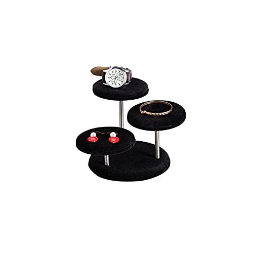 Chytaii Estante de joyería para mujer, torre de joyería, soporte de exhibición de tubo, anillo de exhibición de joyería pequeña, accesorios pequeños para decoración del hogar, caja de exhibición