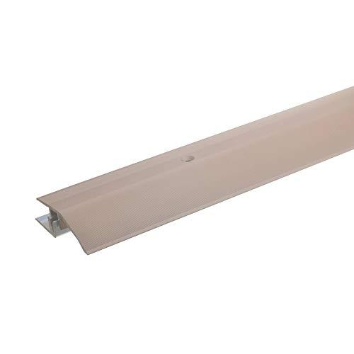 acerto 34037 Alu Höhenausgleichsprofil * 7-15mm * Inkl. Schrauben * Übergangsprofil für Laminat Parkett & Teppich   Übergangsleiste Bodenprofil für Fußböden   Übergangsschiene (135 cm, bronze hell)