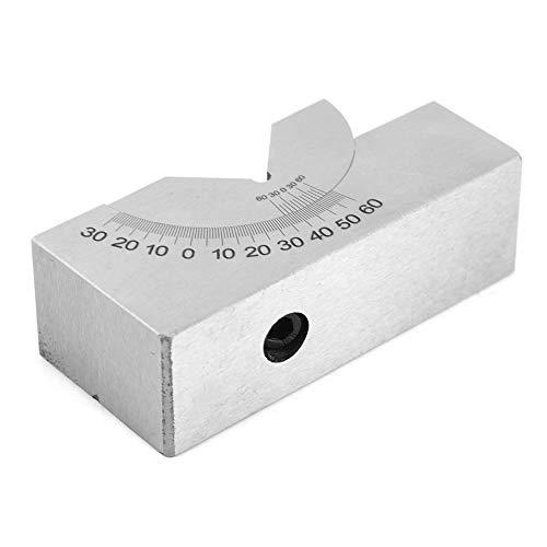 Blocco ad angolo regolabile, il cursore indica il blocco di misura angolare AP30 per tornio di fresatura con chiave