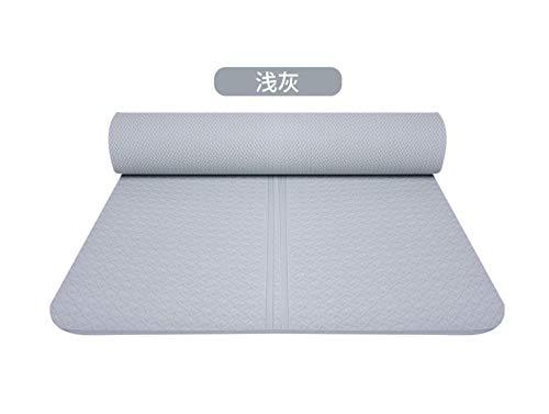 Piaosha 173x61cm tappetino yoga insapore antiscivolo piccola camera da letto studente yoga sala fitness tappetino tappetino sportivo, Grigio chiaro