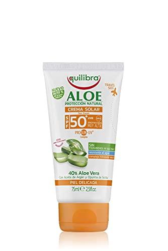 Equilibra Solari, Aloe Crema Solare Spf 50+ Travel Size, Crema con Aloe Vera, Olio di Carota e...